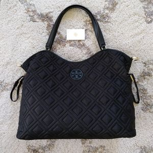 New Tory Burch Slouchy Quilted Diaper Bag